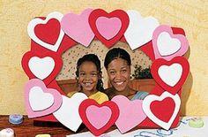 Cuadro de corazones para San Valentín - http://www.manualidadeson.com/cuadro-de-corazones-para-san-valentin.html