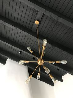 "Take Your Ceiling to New Heights With Black Paint &; CertaPro Painters Take Your Ceiling to New Heights With Black Paint &; CertaPro Painters Isabelle LordStärk isabellelordsta meubles ""The color black makes […] Ceiling Dark Ceiling, Shiplap Ceiling, Colored Ceiling, Ceiling Panels, Ceiling Decor, Ceiling Design, Black Ceiling Paint, Ceiling Paint Ideas, Ceiling Fan"