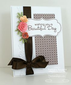 simple #handmade greeting #card - nice clean layout #diy #inspiration #cardmaking #papercrafting