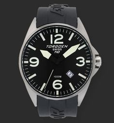 Swiss quartz 3 hand calendar movement Screw down stainless steel back Solid high grade stainless steel case Black Ionic Plating PU Strap Mineral crystal Water Resistant for 10 ATM (300 feet). Non radioactive long lasting luminescence dial