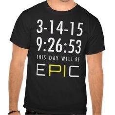 Pi Day 2015 3.14.15 9:26:53 Pie Math T-shirt