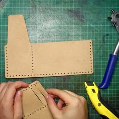 """f0ed3ef19 How to make a leather wallet inspired by """"The Secret Life of Walter Mitty"""""""