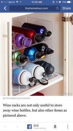 Kitchen Cabinet Cookware Pot & Pan Lid Tupperware Top Organizer Rack ...