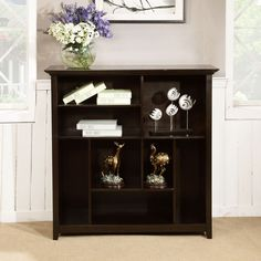 Simpli Home Amherst Crazy Cube Bookcase and Storage Unit - INT-AXCAMH-CCUB-DAB