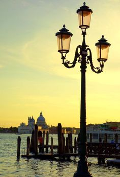 A view of the Venice lagoon at dusk. Italy