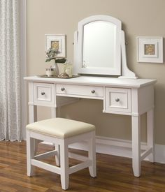 Naples Vanity & Stool Set