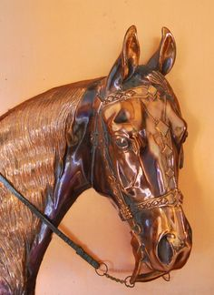 Vintage Metal Corp Arabian Horse Figural Sculpture Copper Gladys Brown Edwards