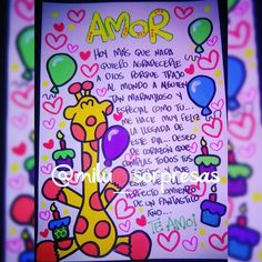 Resultado de imagen para letra timoteo para cartas de amor Cute Surprises, Birthday Gifts, Happy Birthday, Surprise Boyfriend, Diy And Crafts, Paper Crafts, Kawaii Diy, Never Stop Learning, Boyfriend Anniversary Gifts