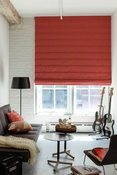 Looking to go bold? An aventura roman shade in Jonathan Adler should do the trick.