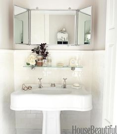 A classic and timeless bath in white from Waterworks cofounder Barbara Sallick. Simplicity reigns.