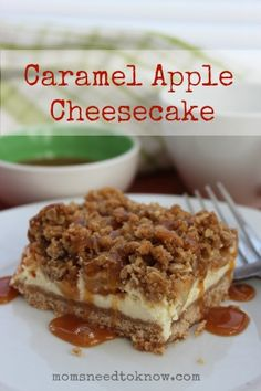 These caramel apple cheesecake bars are so easy to make and a decadent treat that your entire family is sure to love!