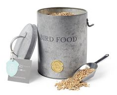 A pest proof tin to store your bird food with handy scoop - it fits neatly under your arm and stops spillages and mess. Stylish designs by Sophie Conran. Best prices on SOPHIE CONRAN BURGON & BALL at BOTANEX Sophie Conran, Brass Plaques, Garden Tool Set, Garden Boxes, Plant Markers, Bird Food, Galvanized Metal, Little Birds, Windows