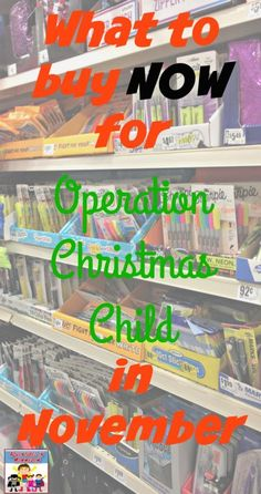 Using Back to School sales to stock up for Operation Christmas Child