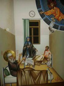 Έκτακτο Παράρτημα: Οι τελευταίες στιγμές του Αγίου Νεκταρίου στο Αρεταίειο Religious Paintings, Byzantine Art, Orthodox Christianity, Orthodox Icons, Medieval, Images, Saints