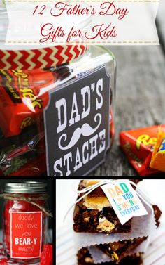 Geschenk Vatertag: 12 Father& Day Gift Ideas - fun DIY Father& Day gifts that kids can he. Homemade Fathers Day Gifts, Diy Father's Day Gifts, Great Father's Day Gifts, Father's Day Diy, Fathers Day Crafts, Gifts For Father, Happy Fathers Day, Homemade Gifts, Gifts For Kids