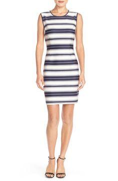 MARC NEW YORK Marc New York Stripe Scuba Sheath Dress available at #Nordstrom