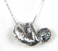 Sterling Silver Tree Sloth Charm Necklace A Marty Magic Creation