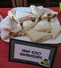 Ham Solo Sandwiches...Star War's day May 4th - Angry Birds Star Wars Party - Crafty Party