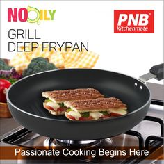 Best #Quality #DeepFrypan by PNB Kitchenmate. This Frypan features a durable non-stick cooking surface, a pan-tilt lever and glass lid with adjustable steam vent ensuring constant temperature during cooking. #eathealthy #kitchenset #kitchenlife #kitchen #kitchendesign #kitchenaid #kitchenremodel #kitchener #best #newmodel #new #newproducts #hard #pressurecooker #mykitchen #mykitchenrules #my #models #frypan #deep #grill #nooily #food