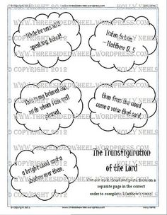 Catholic Gospel Coloring & Worksheets for Sunday Mass - October ...