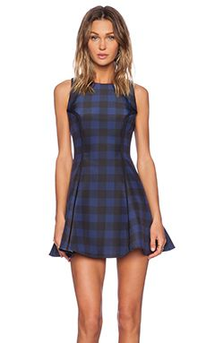Finders Keepers Alter Ego Dress in Black & Patriot