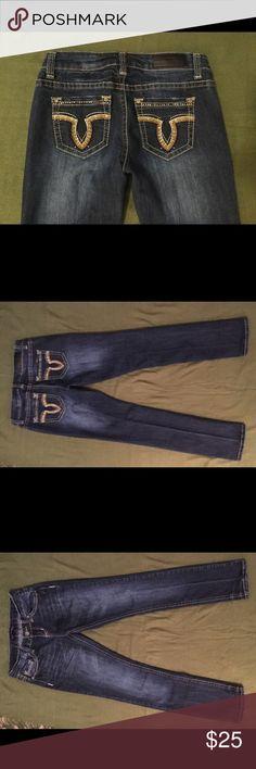 Jeans NWOT, Embellished Pockets New Jeans, size 3/4, Embellished back pockets 21 Black, Rue 21 Jeans Straight Leg