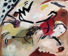 Kandinsky / Improvisation 20 / Painting #Wassily #Kandinsky #weewado #wassily #kandinsky #art #horse #the