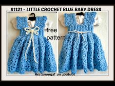 Free Crochet Pattern – Blue Baby Dress – Hectanooga Shop