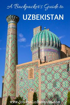 In this article, you'll find all the information (visa, money, getting around, what to pack,...) that you need to know before you go backpacking in Uzbekistan. A complete travel guide to this beautiful country in Central Asia!