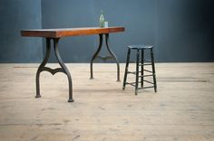 Plimpton Industrial Arch Leg Work Table : Factory 20