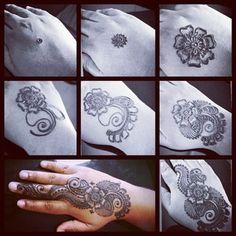 step by step to do henna for begins Henna Tree, Henna Mehndi, Mehendi, Henna Tattoos, Tatoo Designs, Mehandi Designs, Step By Step Henna, Henna Drawings, Art Basics