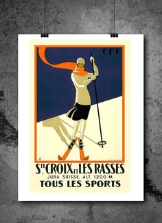 St Croix Tous Les Sports Skiing Travel Poster Print 8x10 Print. St Croix Tous Les Sports Skiing Travel Poster Print 8x10 Print - HIGH QUALITY PRINTS - Focusing on making quality prints for the Home & Office. Introducing Our : Vintage Travel Collection -This 8x10 print is Ready-To-Frame and will fit perfectly in any Frame with Mat when delivered. BEAUTIFUL WALL ART: Our posters provide daily inspiration, beauty, tranquility and are the perfect choice for the office, dorm room, classroom or...