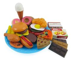 Fast Food & Dessert Play Food Cooking Set for Kids - 30 pieces (Burgers, Donuts, Ice Cream, & more), http://www.amazon.com/dp/B00846UOI0/ref=cm_sw_r_pi_awdm_ZWFeub13CQ43V