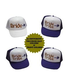 Bride Tribe, Personalized Trucker Hats for Bachelorette Parties, Hen Parties and Wedding Parties by CustomHolidays on Etsy
