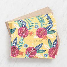 Folk Floral Thank You Cards