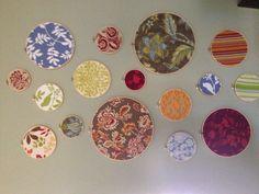 Fabric hoops wall art