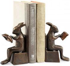 Studious Rabbit Bookends - Set of 2 at homedecorators.com $39