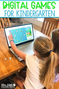 These fun digital games for kindergarten are great for distance learning and classroom use, too! Preloaded to Seesaw and also available for Google Classroom.