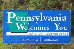 Pennsylvania welcomes you sign