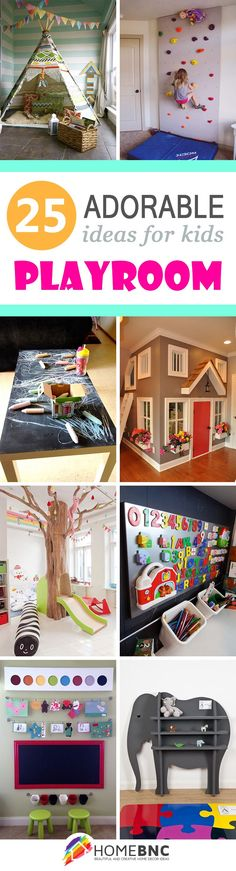 25 Adorable Kids Playroom Ideas that Every Child Will Love 25 Adorable Kids Playroom Ideas that Every Child Will Love The post 25 Adorable Kids Playroom Ideas that Every Child Will Love appeared first on Toddlers Ideas. Playroom Design, Playroom Decor, Kids Decor, Playroom Paint, Decorating Kids Rooms, Decorating Ideas, Playroom Colors, Toddler Playroom, Children Playroom