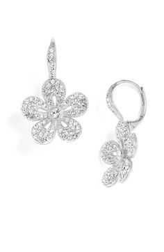 Nadri Crystal Flower Drop Earrings available at Nordstrom