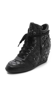 Ash Brooklyn Quilted Wedge Sneakers. #fashion #women #shoes #sneakers
