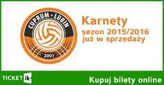 Na naszej platformie sprzedaży biletów online możecie nabyć karnety na mecze siatkówki CUPRUM LUBLIN.   W systemie można nabyć następujące karnety: - karnet normalny - 250 PLN - karnet ulgowy - 150 PLN* - karnet VIP - 400 PLN** - karnet SuperVIP - 1000 PLN***  Tutaj: http://ticketik.pl/#!/Wydarzenie/62