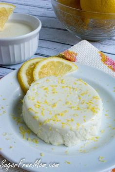 Sugar Free Lemon Panna Cotta, a light dessert low in calories, easy enough for a weeknight and low in carbs!