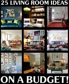 25 Beautiful Living Room Ideas On A Budget!!!