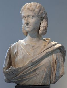 Woman, possibly Otacilia Severa, Roman bust (marble), 3rd century AD, (Metropolitan Museum of Art, New York).
