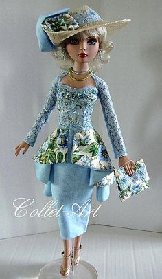 "2013 Tonner Wilde Imagination Ellowyne Wilde Prudence Moody Imperium Park OOAK Fashion Outfit ""Garden Party Perfect"" Collet-Art 
