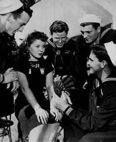 Shirley Temple at the Hollywood Canteen
