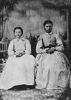 Henrietta (1861-?) and Eulalie (1854-1931) Riel (Métis). Daughters of Louis Riel Sr. and Julie Lagemoniere; sisters of Louis Riel Jr..