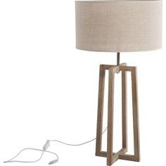 A l arraché Lampe sur pied en bois de pin méridional récupérée
